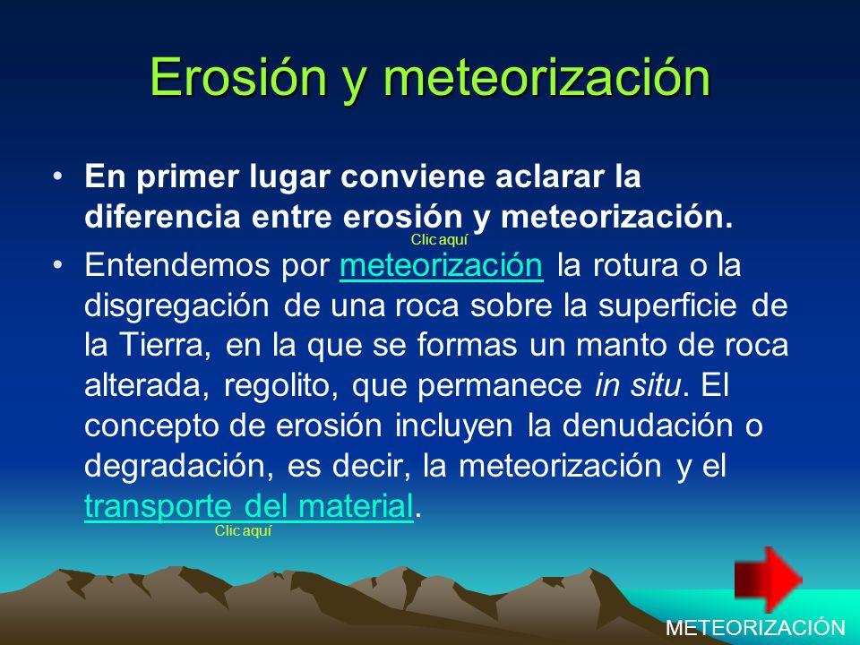 Erosión y meteorización