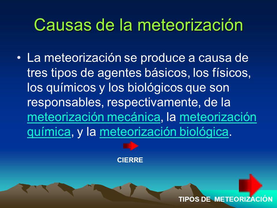 Causas de la meteorización