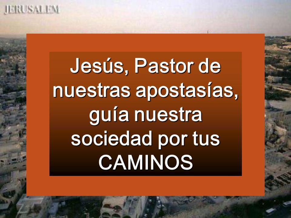 Jesús, Pastor de nuestras apostasías, guía nuestra sociedad por tus CAMINOS