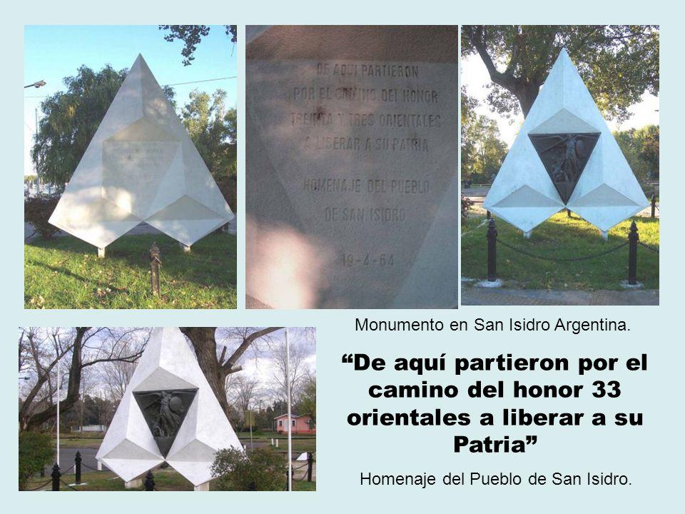 Monumento en San Isidro Argentina.