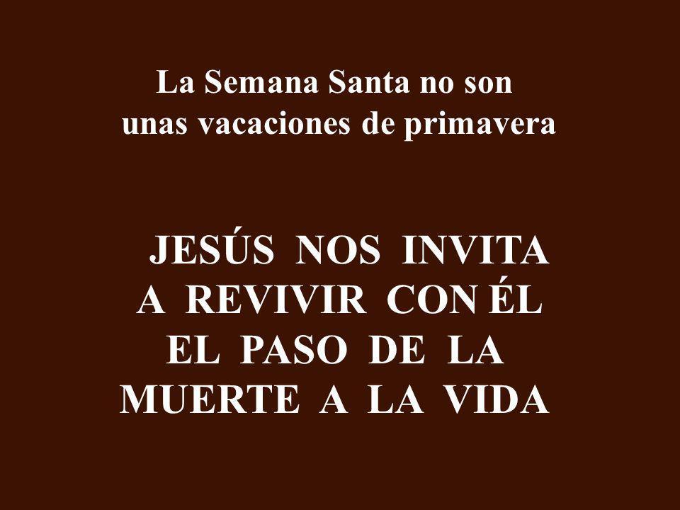 JESÚS NOS INVITA A REVIVIR CON ÉL EL PASO DE LA MUERTE A LA VIDA