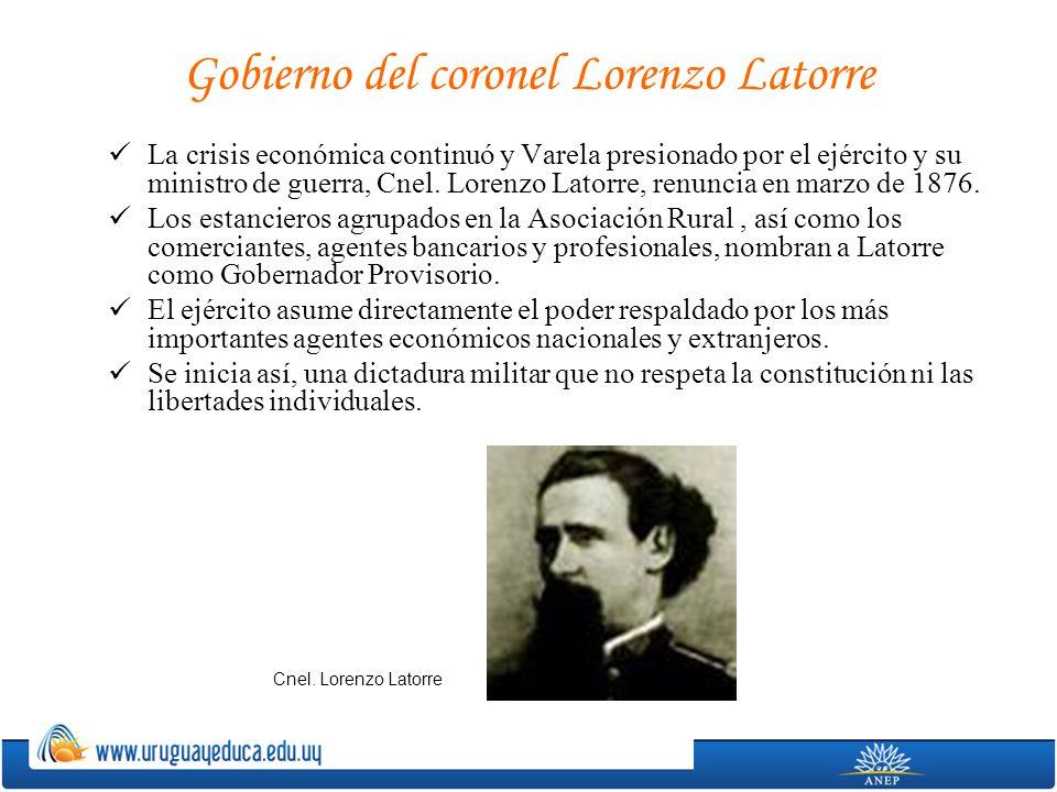 Gobierno del coronel Lorenzo Latorre
