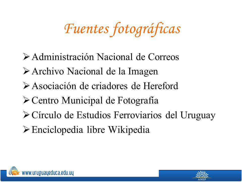 Fuentes fotográficas Administración Nacional de Correos