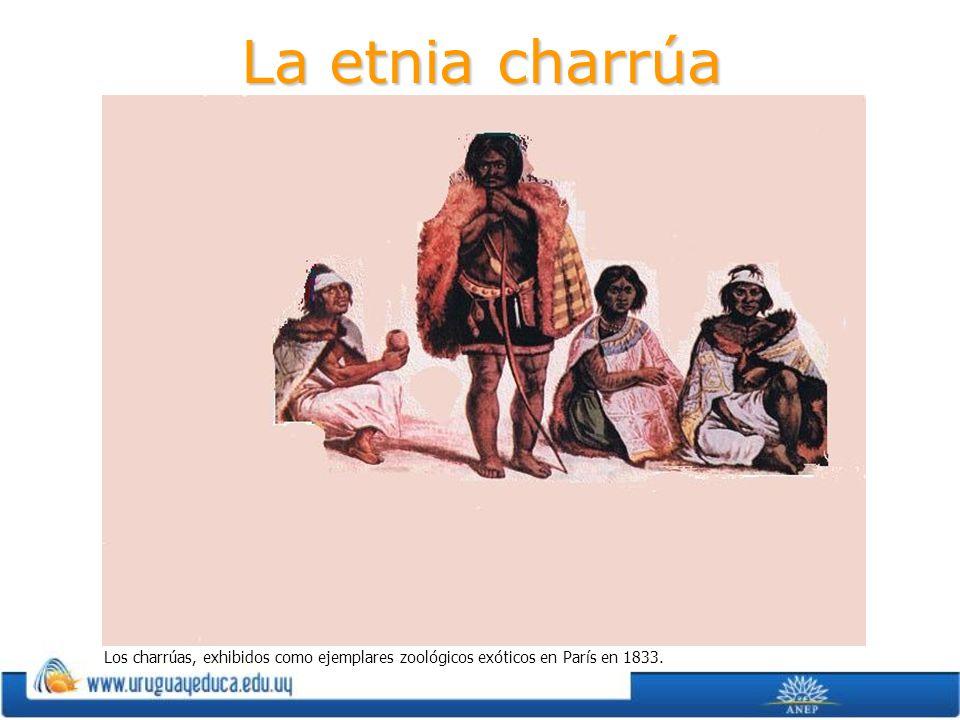 La etnia charrúa Los charrúas, exhibidos como ejemplares zoológicos exóticos en París en 1833.