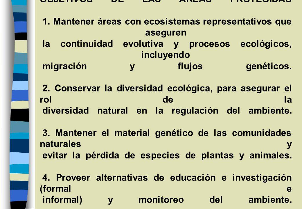 OBJETIVOS DE LAS AREAS PROTEGIDAS 1