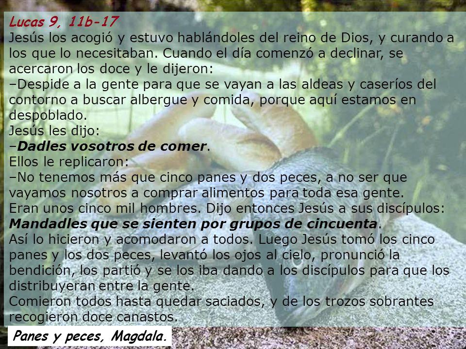 Lucas 9, 11b-17