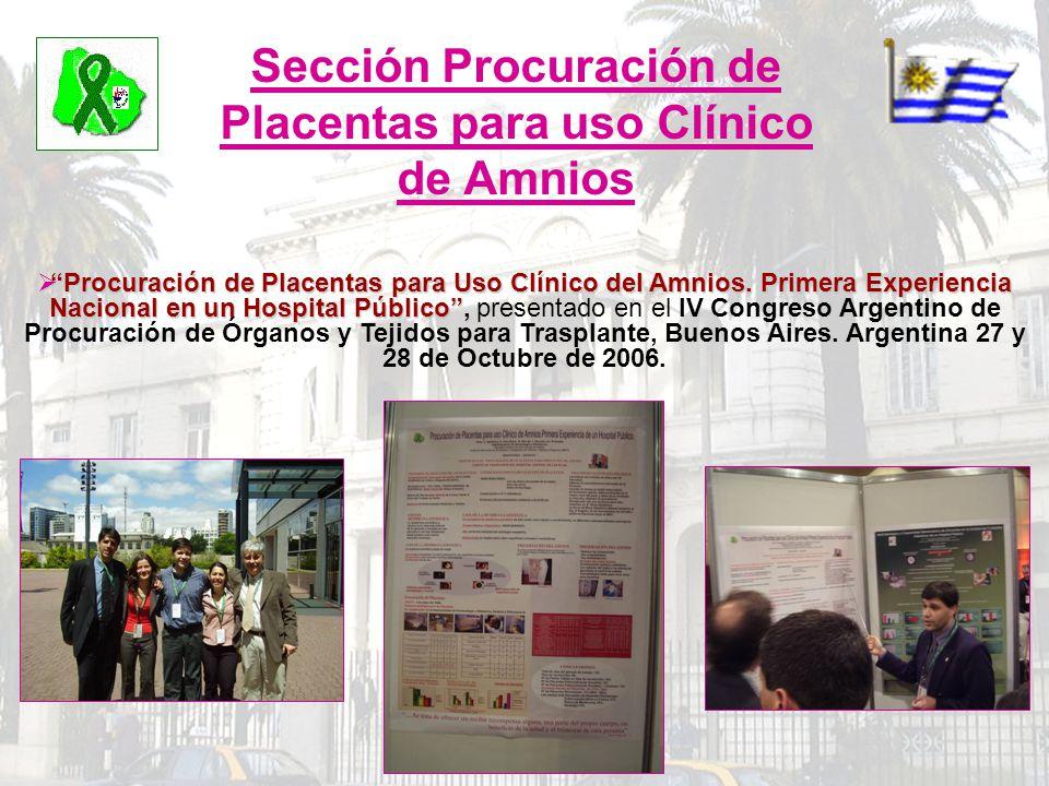 Sección Procuración de Placentas para uso Clínico de Amnios