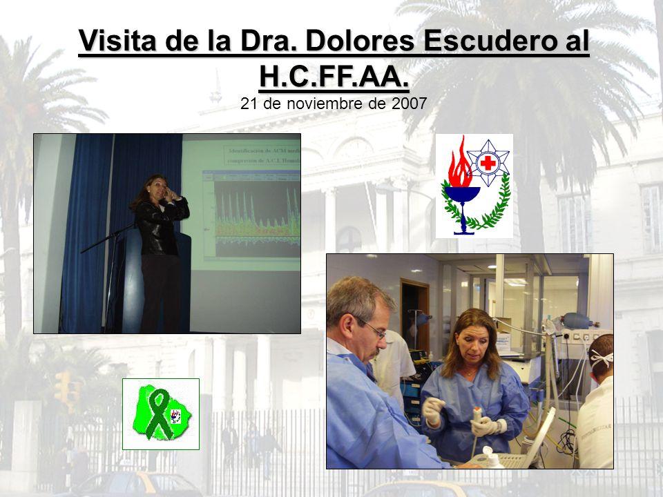 Visita de la Dra. Dolores Escudero al H.C.FF.AA.