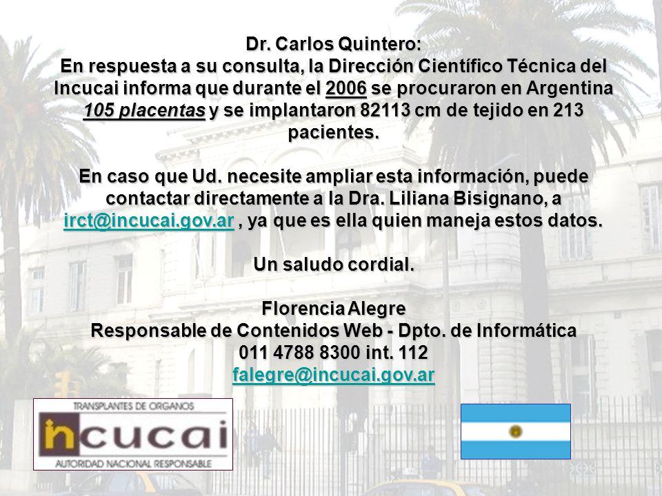 Dr. Carlos Quintero: