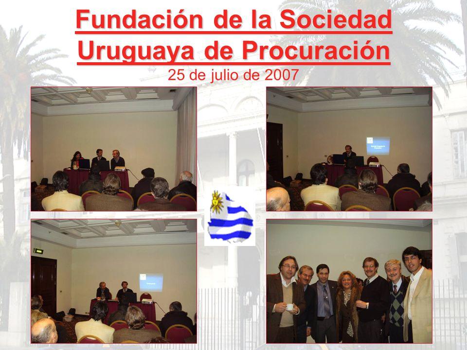 Fundación de la Sociedad Uruguaya de Procuración 25 de julio de 2007