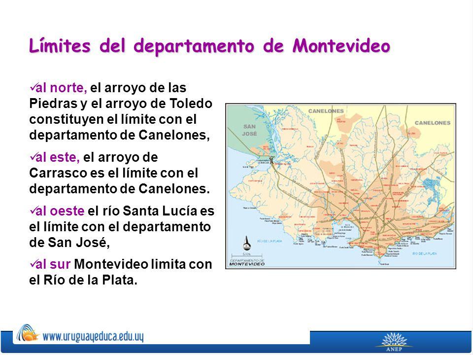 Límites del departamento de Montevideo