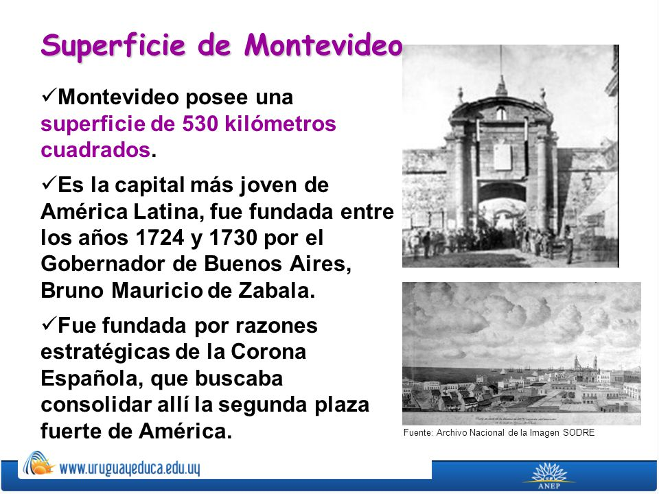 Superficie de Montevideo