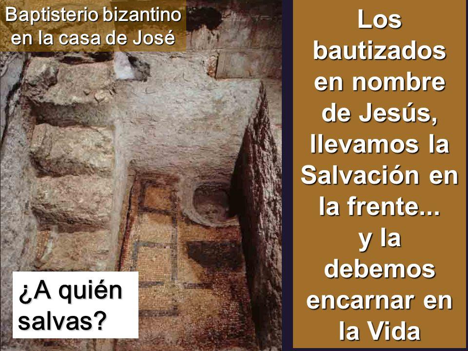 Baptisterio bizantino en la casa de José
