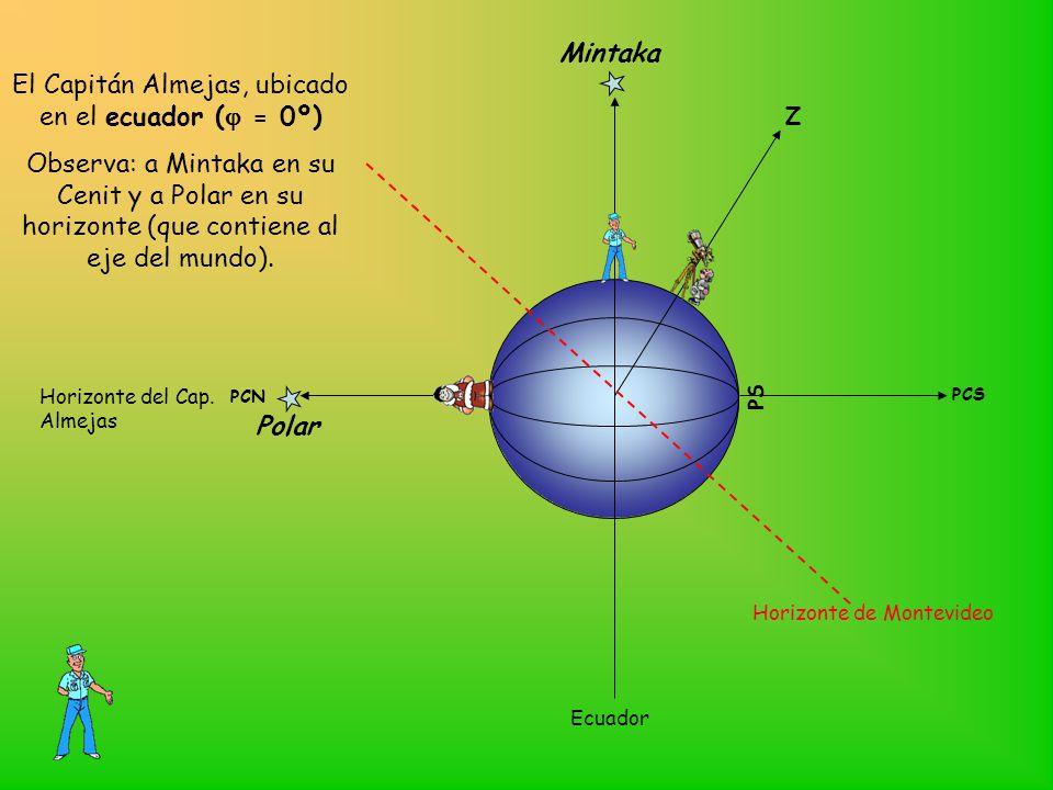 El Capitán Almejas, ubicado en el ecuador (j = 0º)