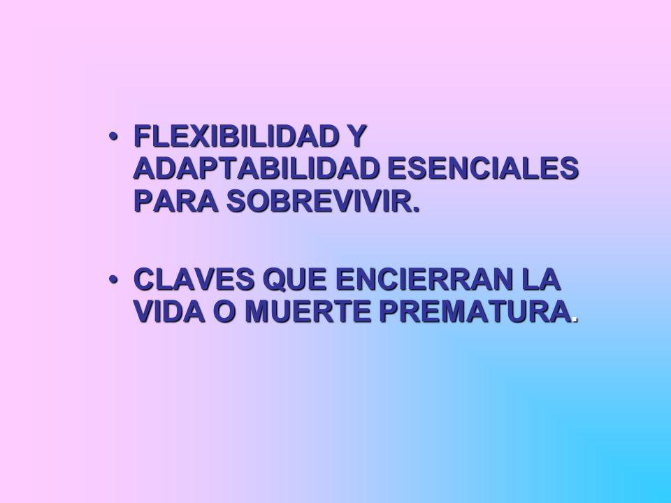 FLEXIBILIDAD Y ADAPTABILIDAD ESENCIALES PARA SOBREVIVIR.