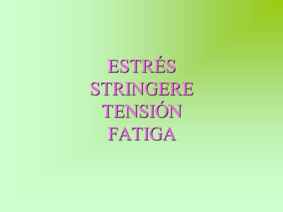 ESTRÉS STRINGERE TENSIÓN FATIGA