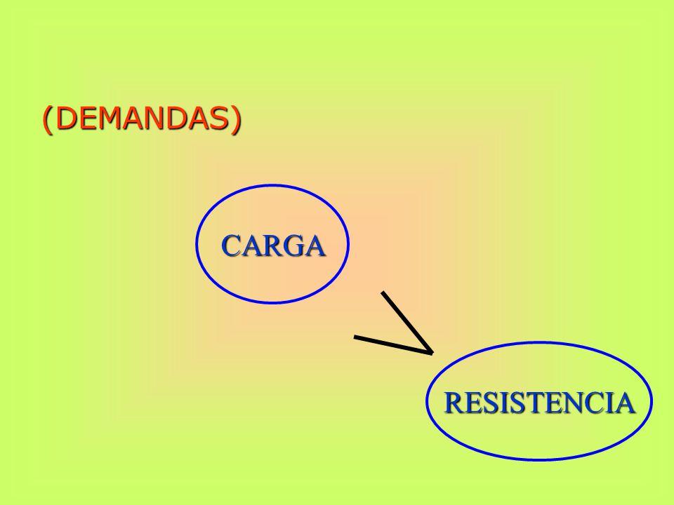 (DEMANDAS) CARGA RESISTENCIA