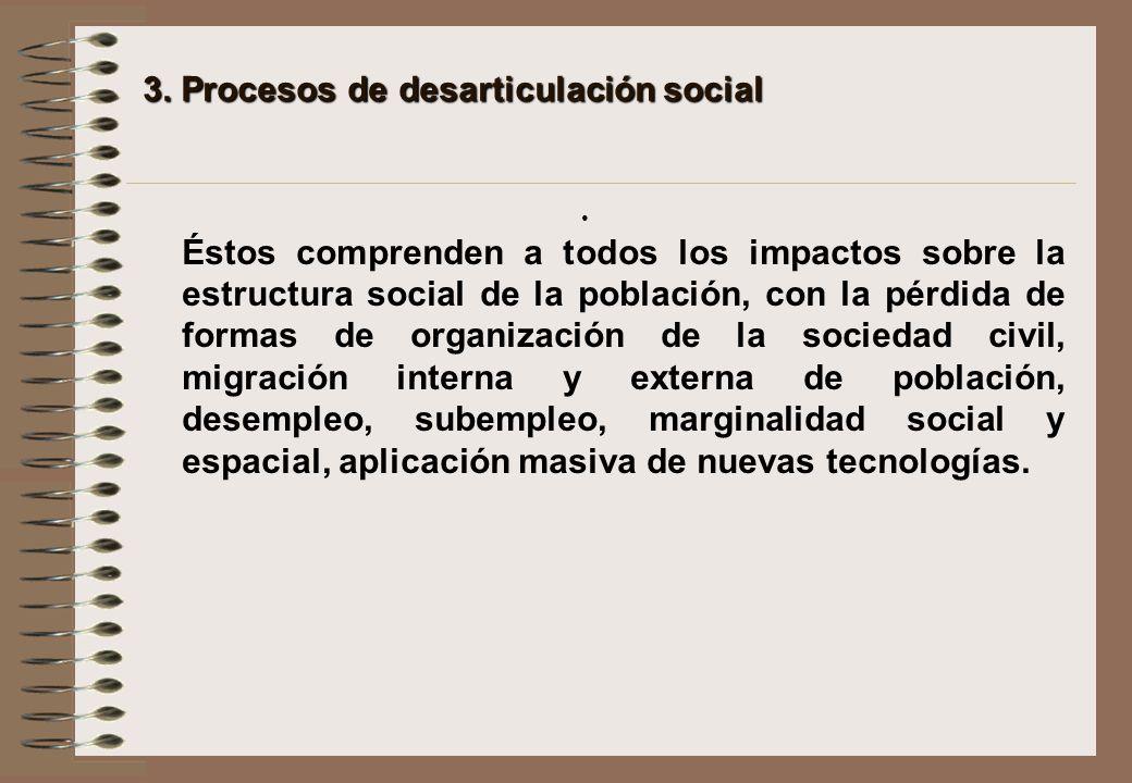 3. Procesos de desarticulación social