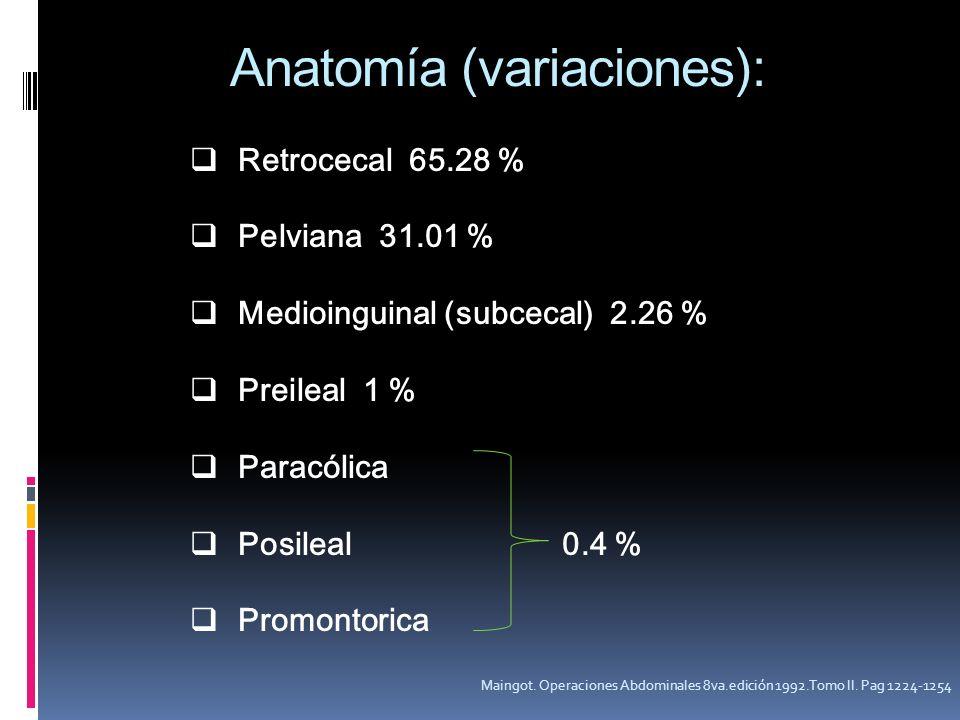 Anatomía (variaciones):