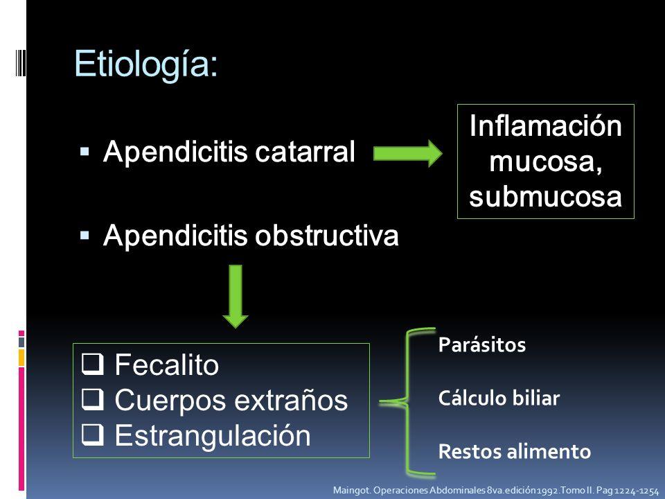 Inflamación mucosa, submucosa