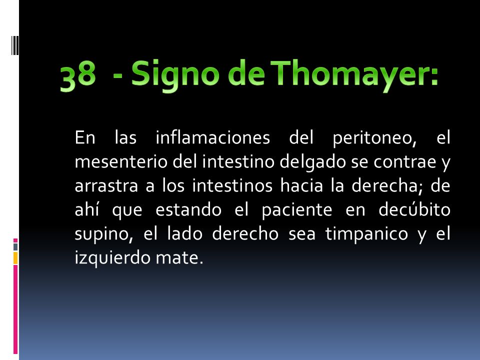 38 - Signo de Thomayer: