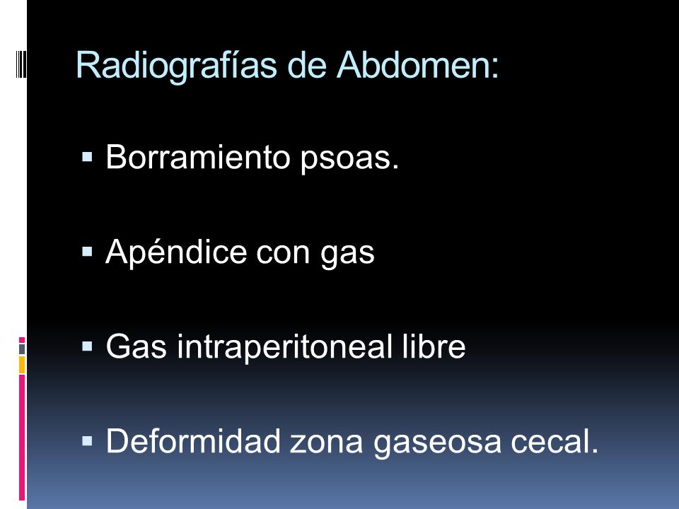 Radiografías de Abdomen: