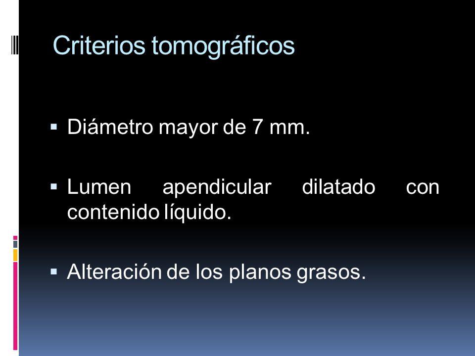 Criterios tomográficos