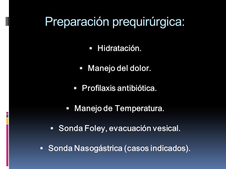 Preparación prequirúrgica: