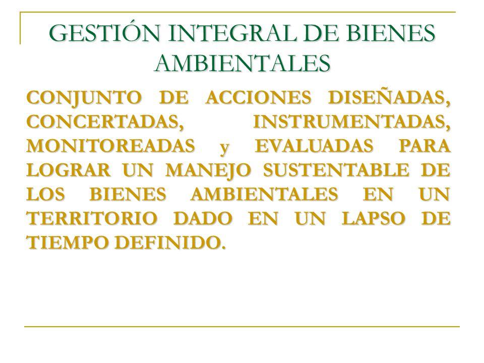 GESTIÓN INTEGRAL DE BIENES AMBIENTALES