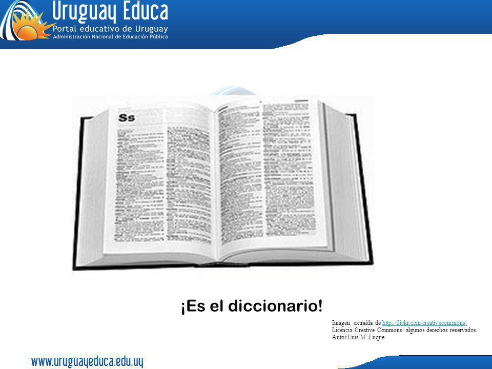 ¡Es el diccionario!