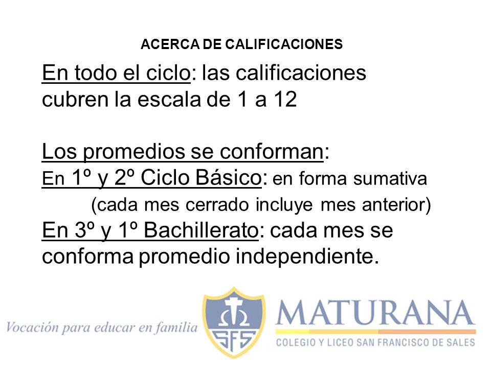 ACERCA DE CALIFICACIONES