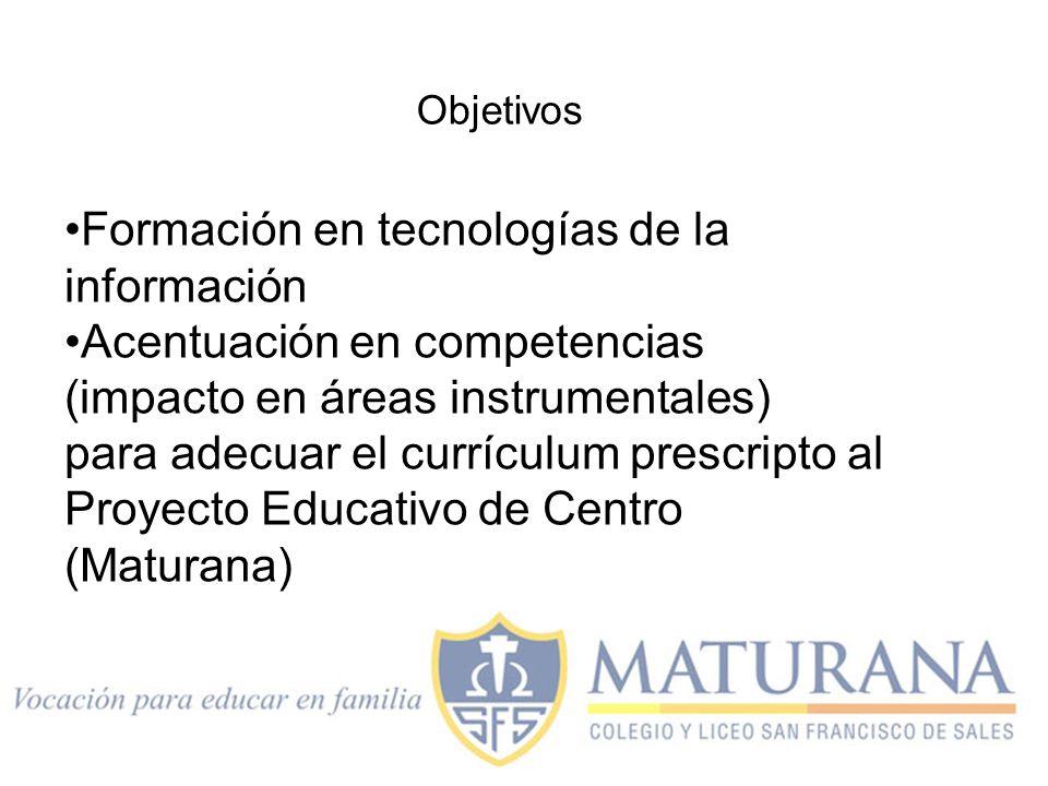 Formación en tecnologías de la información Acentuación en competencias