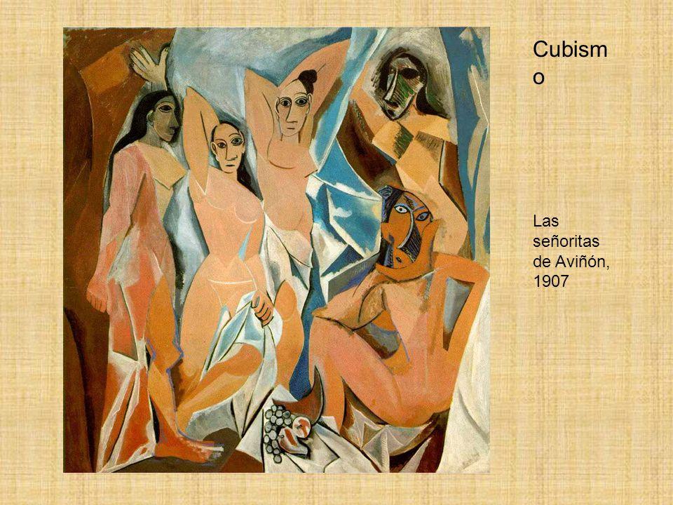 Cubismo Las señoritas de Aviñón, 1907