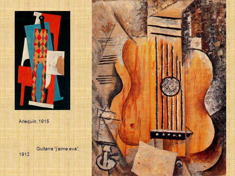 Arlequín, 1915 Guitarra j'aime eva , 1912