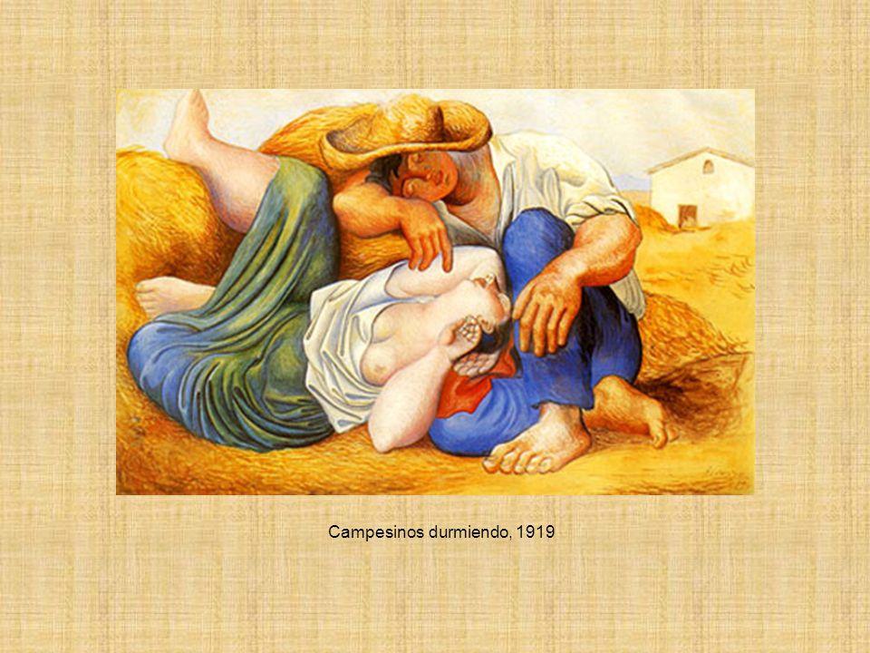 Campesinos durmiendo, 1919