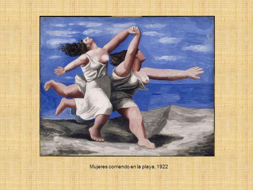 Mujeres corriendo en la playa, 1922