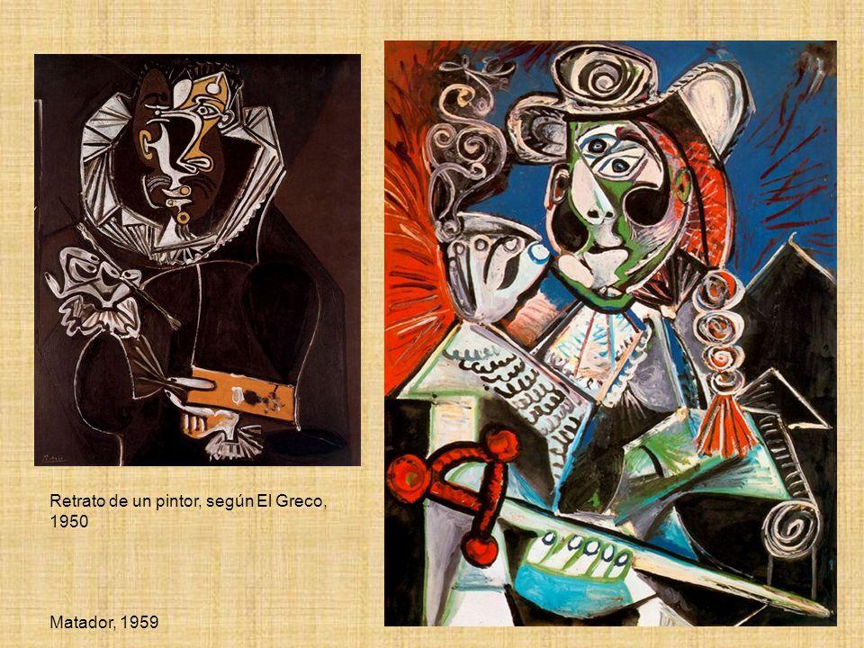 Retrato de un pintor, según El Greco, 1950