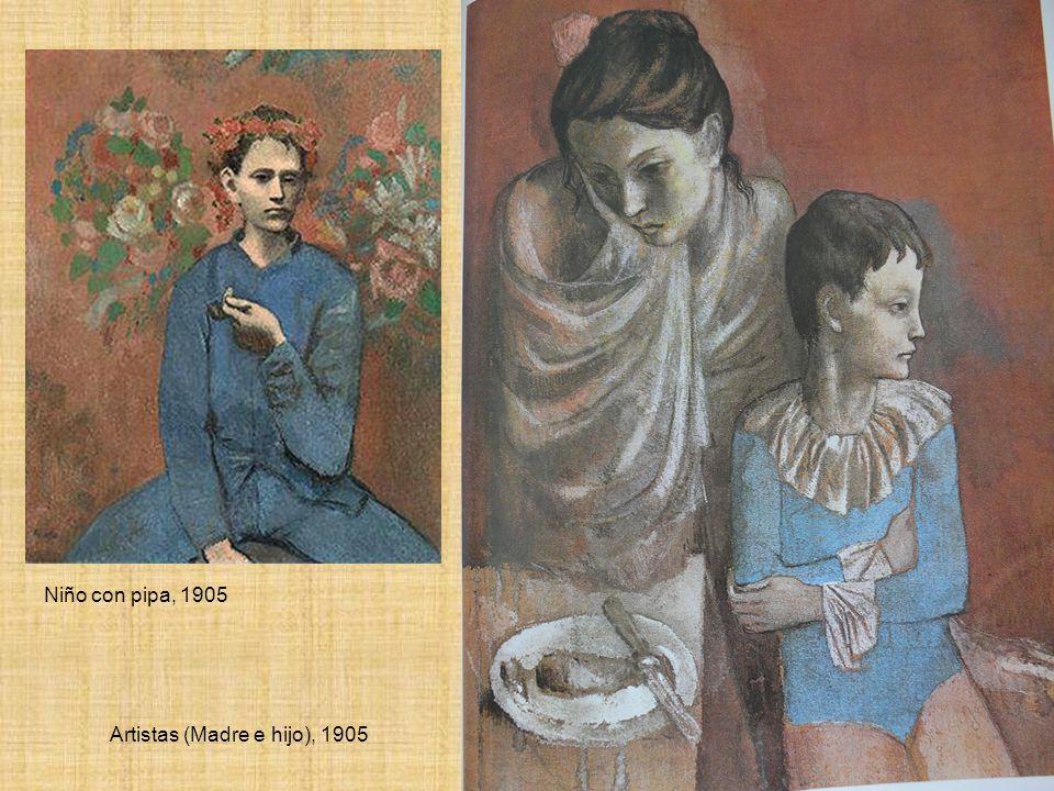 Niño con pipa, 1905 Artistas (Madre e hijo), 1905