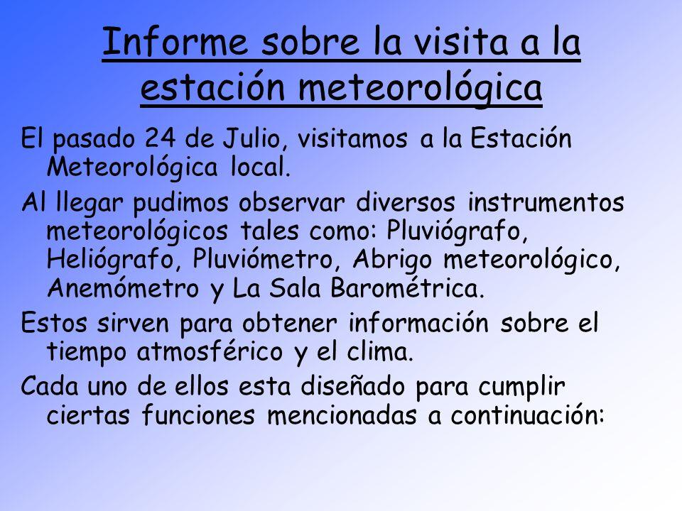 Informe sobre la visita a la estación meteorológica