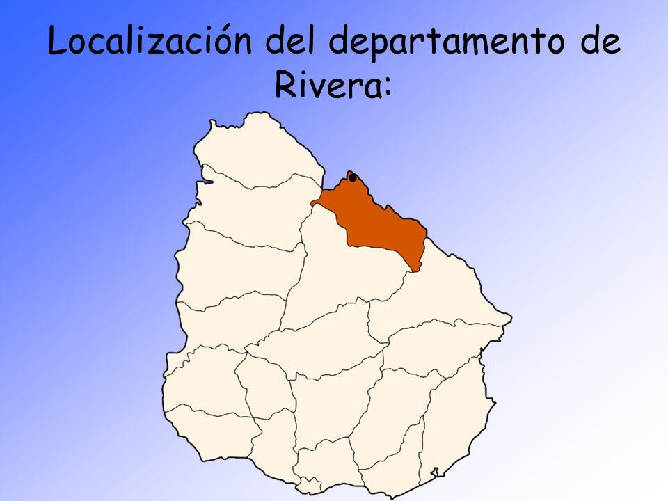 Localización del departamento de Rivera: