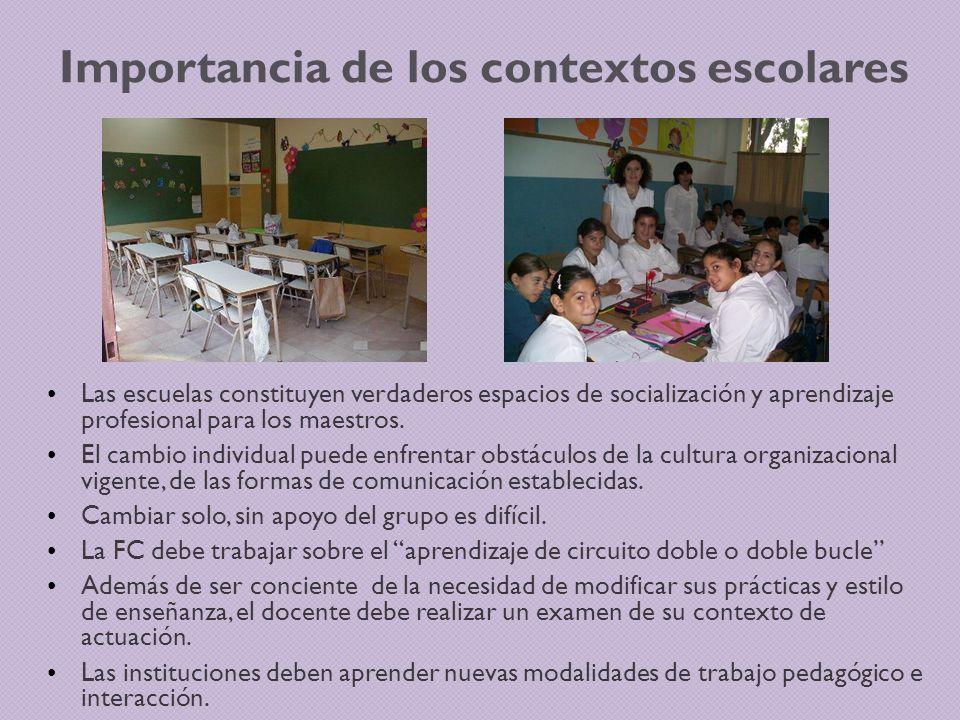 Importancia de los contextos escolares