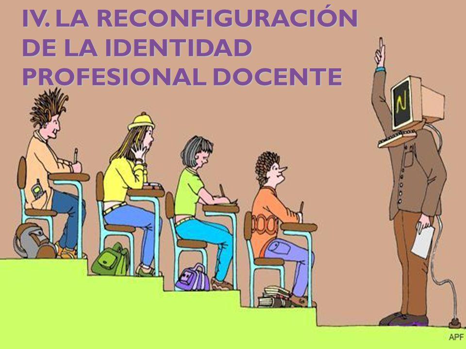 IV. LA RECONFIGURACIÓN DE LA IDENTIDAD PROFESIONAL DOCENTE