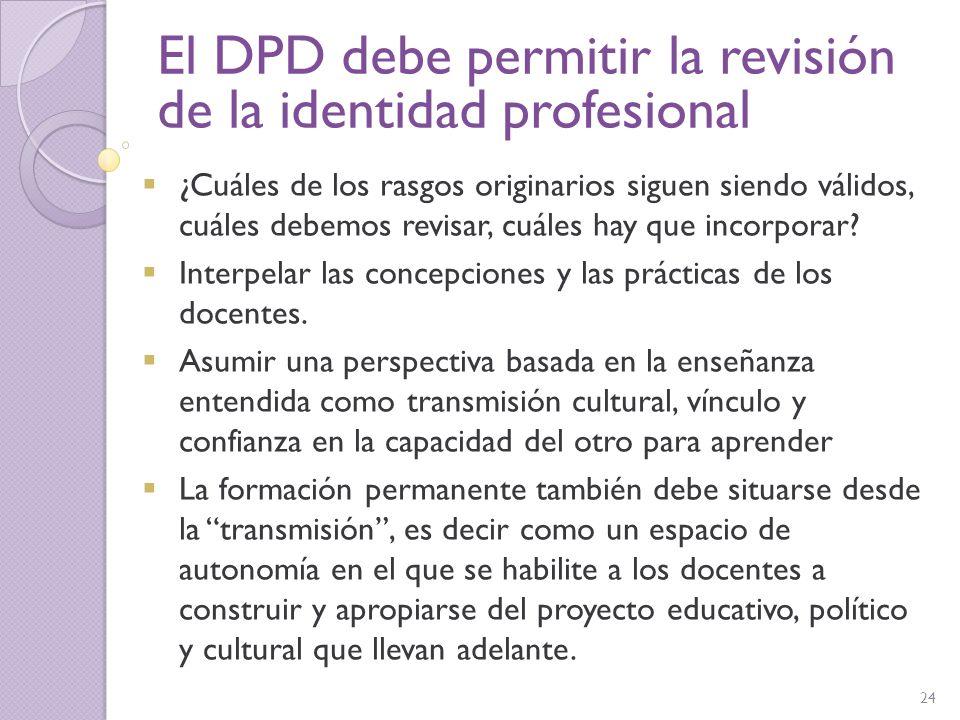 El DPD debe permitir la revisión de la identidad profesional