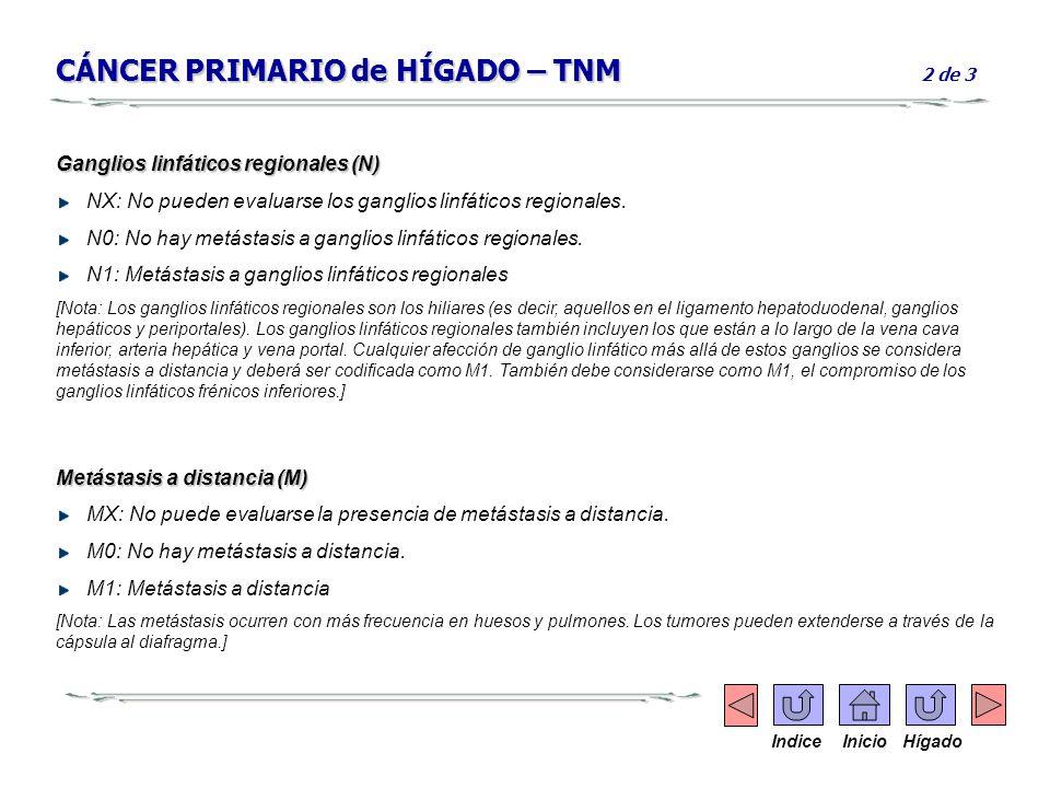 CÁNCER PRIMARIO de HÍGADO – TNM 2 de 3
