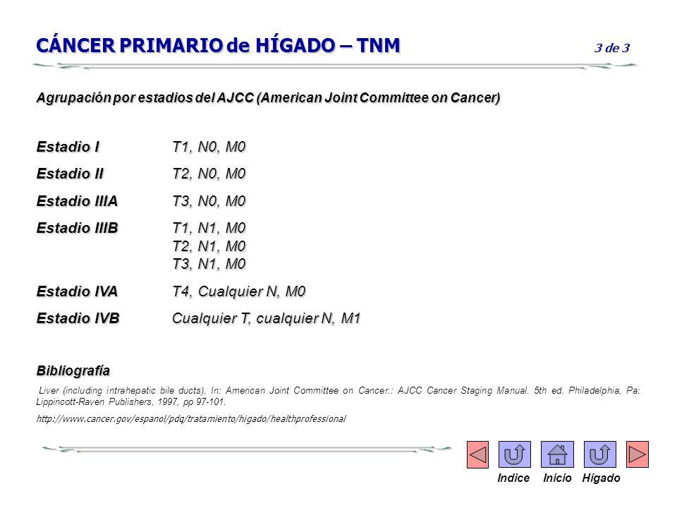 CÁNCER PRIMARIO de HÍGADO – TNM 3 de 3