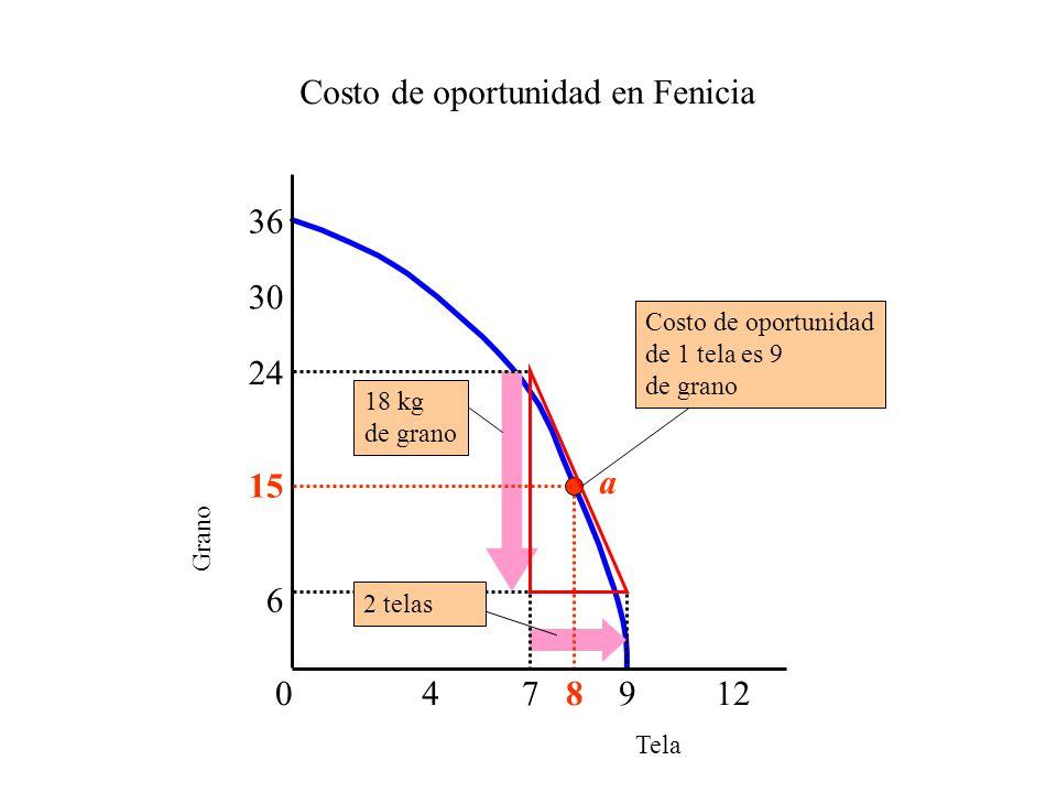 Costo de oportunidad en Fenicia