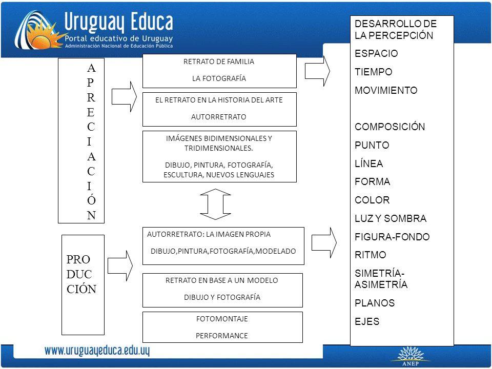 APRECIACIÓN PRODUCCIÓN DESARROLLO DE LA PERCEPCIÓN ESPACIO TIEMPO