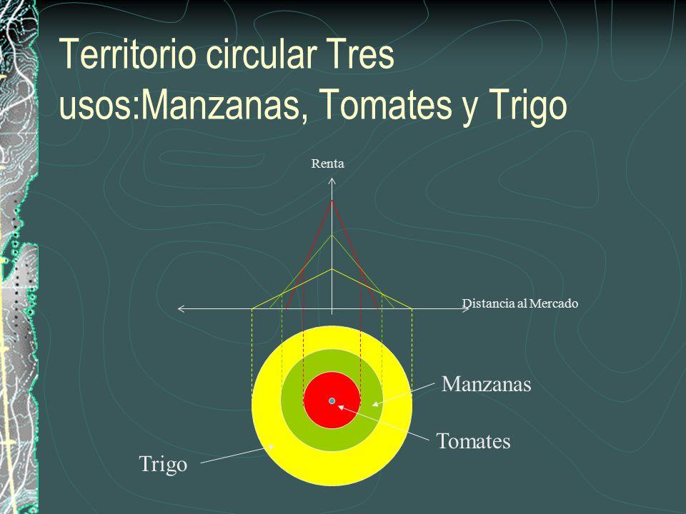 Territorio circular Tres usos:Manzanas, Tomates y Trigo