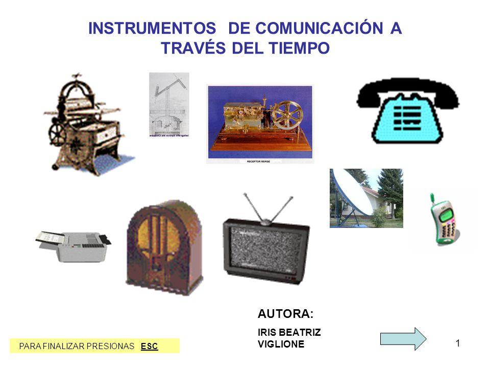 INSTRUMENTOS DE COMUNICACIÓN A TRAVÉS DEL TIEMPO