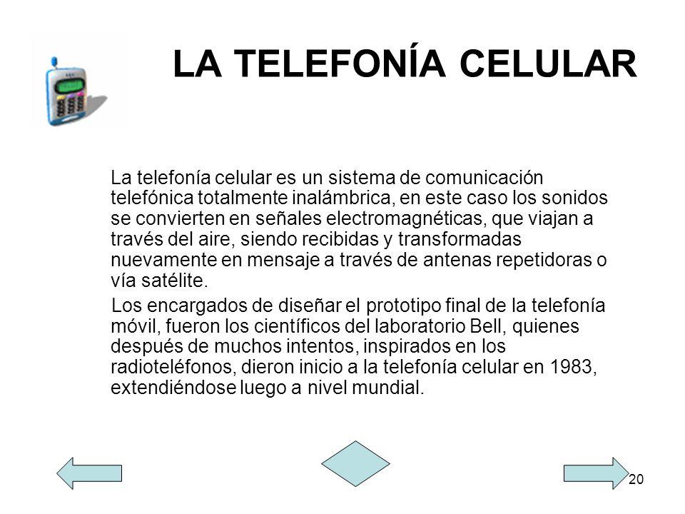 LA TELEFONÍA CELULAR